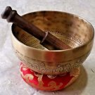 Handmade Mantra Etched Tibetan Singing Bowl 5 inch