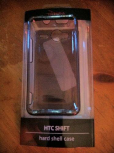 HTC Evo Shift Hard Case Shell By RocketFish Clear Grey Smoke Snap On