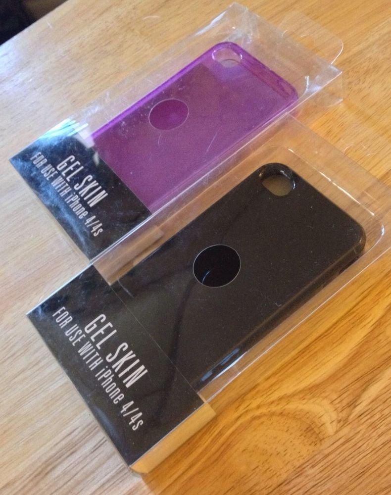 Rawlings Brand Gel Skin Case For iPhone 4 4S   Purple Or Black