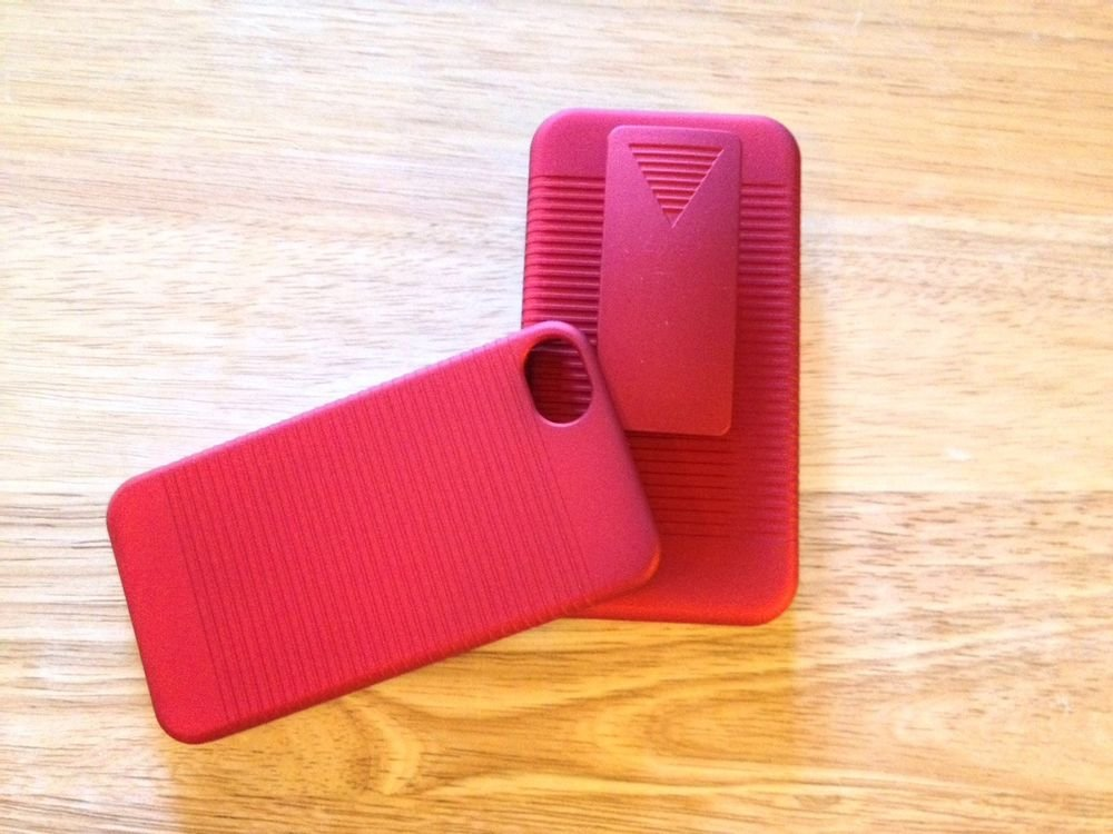 Rawlings Brand Hard Case with Holster / Stand For iPhone 4 4S Red Or Black