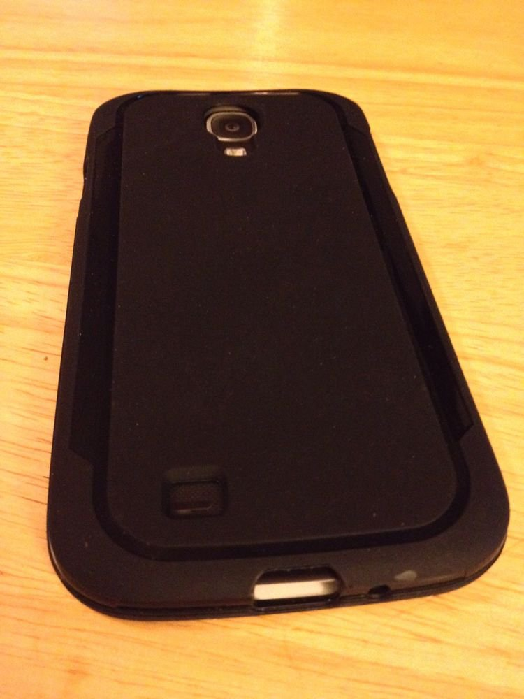 Straight Talk Samsung Galaxy S4 SIV Gel Grasp Style Case   Black