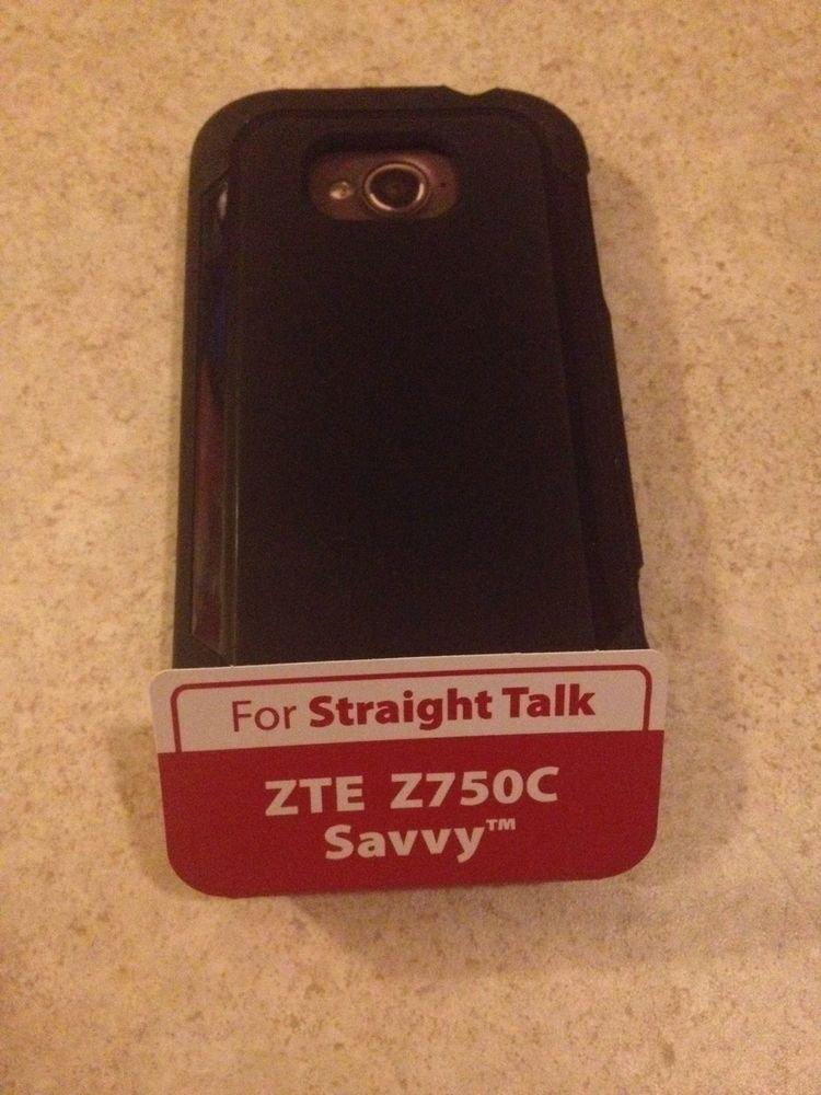 Black Purple Case for Straight Talk ZTE Z750C Savvy Gel Case for Straight Talk