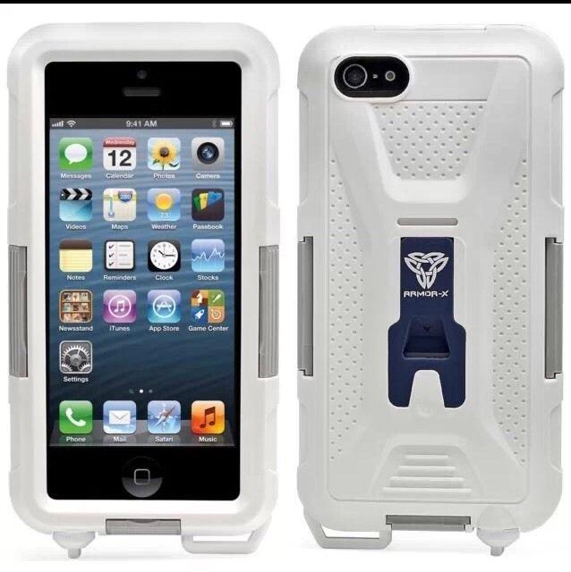 ArmorCase Waterproof Case Apple iPhone 5 5S ArmorX White/Gray WeathrProof MX-AP1