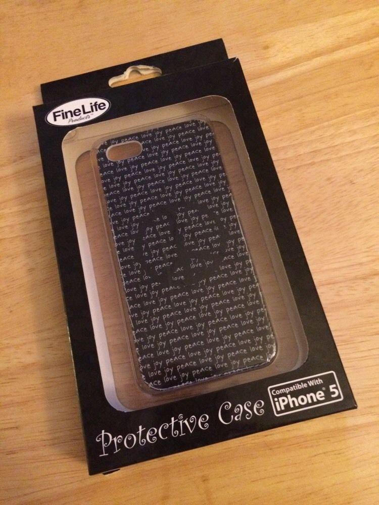 Apple iPhone 5 5S Peace Design Hard Case FineLife Protective Case Black/White