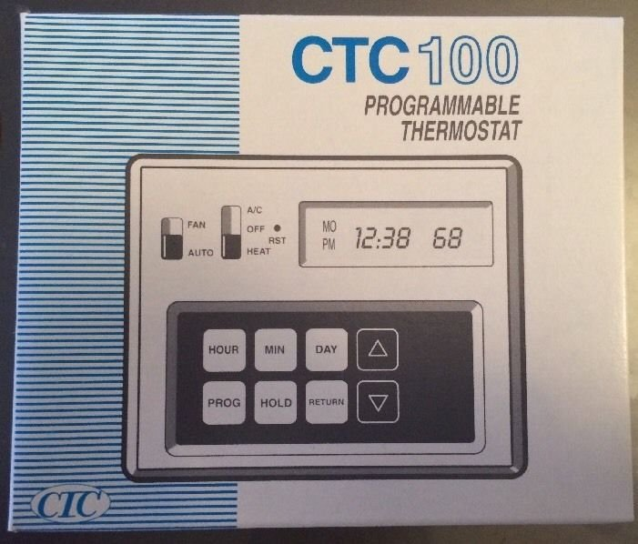 CTC 100 Programmable Thermostat 43100 5-2 Weekday Weekend Heat n Cool