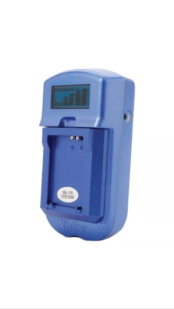 Vivitar VIV-SC-3100-BLU-S LCD Battery Charger for Sony Batteries (Blue) AC/DC