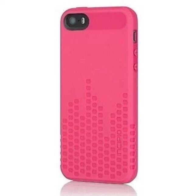 Incipio Frequency Case Cover for iPhone 5 5S   Pink  Textured Case