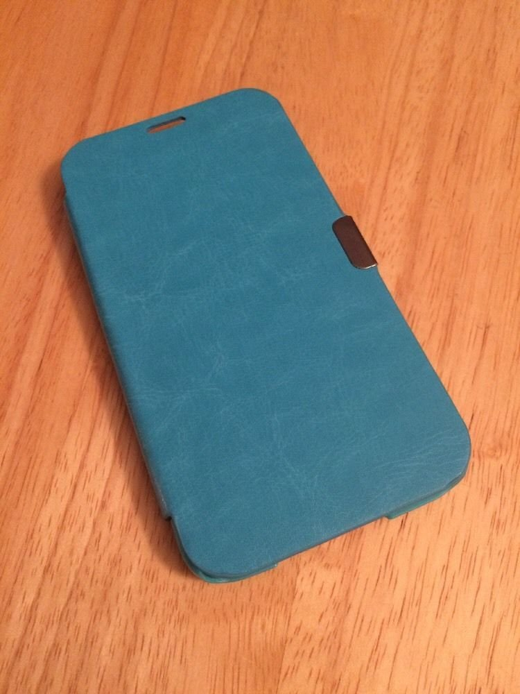 Ultra Thin Slim Magnetic FlipCase Cover for Samsung Galaxy S5 i9600 Aqua Blue