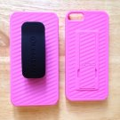 KoolKase Belt Clip Case Holster Desktop Stand Cover iPhone 5 5S  Pink & Black