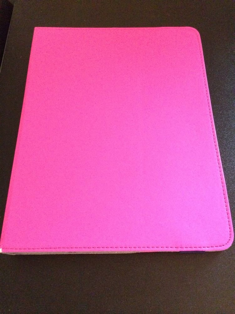 Vivitar Portfolio Case for iPad & Tablet Devices  Pink w/ Blue