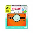 Maxell 30pk CD-R Color Discs 80min 700MB 48x  648451  3 Colors