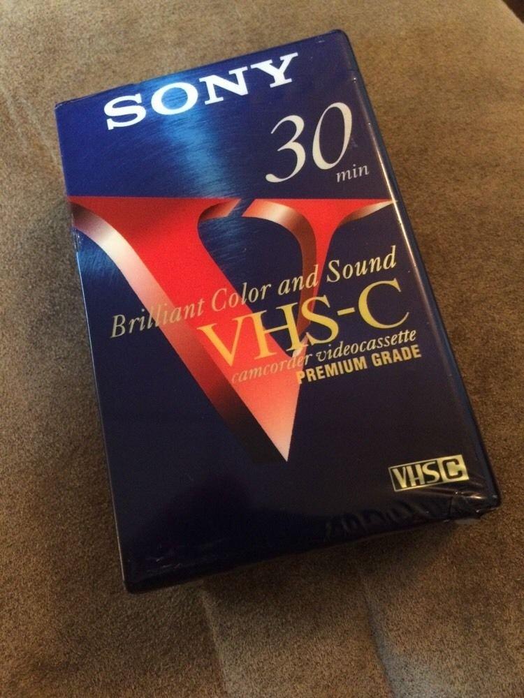 Sony VHS-C Camcorder Videocassette Premium Grade TC-30VHGF SP30 EP90