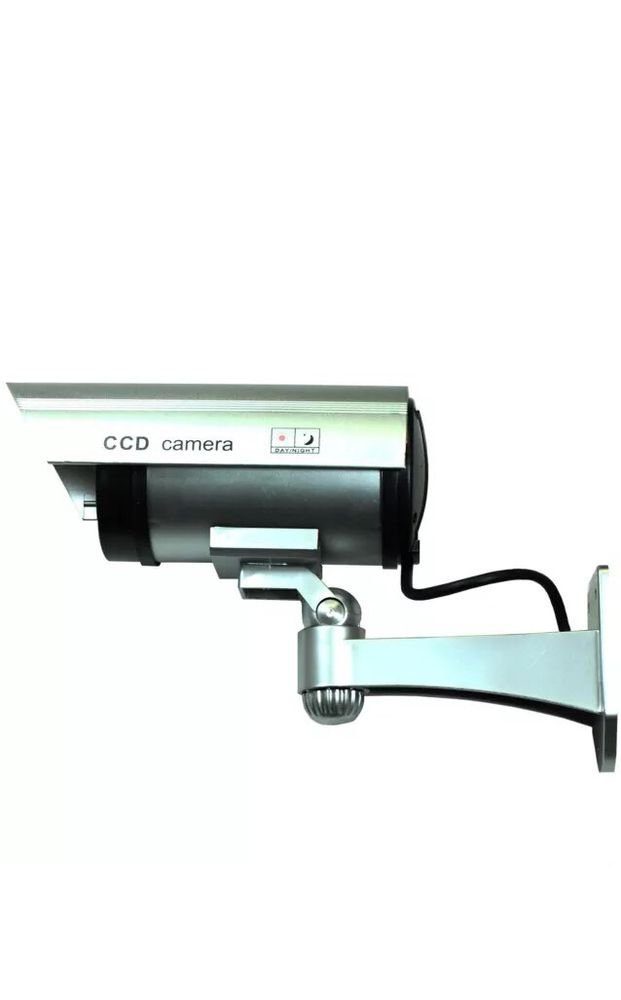 Realistic Looking Dummy IR Camera Fake Security Camera w/ Flashing Red LED