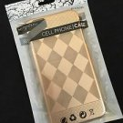 Gold Metallic Case for iPhone 6/6S Plus  Ultra Thin Diamond Checker Pattern