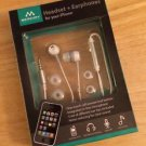 Merkury Headset & Earphones for iPhone - White One Touch Call Button In Line Mic
