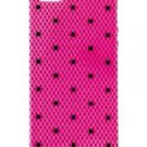 Victoria's Secret Pink Lace Black Polka Dot iPhone 5/5S Case Cover NIB  VS