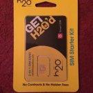 H20 2-in-1 Sim Card Starter Kit Standard/Micro works w/ iPhone 3/4 ATT Unlimited