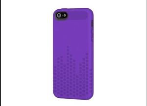 Incipio Frequency Case Cover for iPhone 5 5S   Purple  Textured Case
