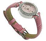 Royal Crown Celebrity CZ Pink Jewel Watch