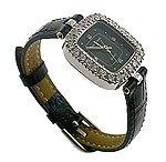 Modern CZ Black Jewel Watch
