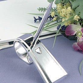 Rhinestone Heart Pen Set