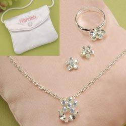 Crystal Petals Flower Girl Set