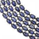 Blue Sapphire CZ 925 Silver Bracelet