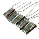 Natural Multi-Color Gemstone 925 Silver Necklace