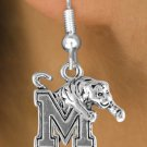 "SWW14350E - LICENSED UNIVERSITY OF MEMPHIS ""TIGERS"" LOGO EARRINGS"