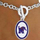 "SWW16660B - LICENSED UNIVERSITY OF MEMPHIS ""TIGERS"" LOGO OVAL BRACELET"