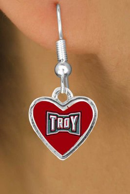 sww15265e troy university trojans earrings