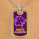 "SWW17004N - LICENSED UNIVERSITY OF NORTH ALABAMA ""LIONS"" DOG TAG NECKLACE"