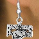 SWW12939E - LICENSED UNIVERSITY OF ARKANSAS RAZORBACKS MASCOT EARRINGS