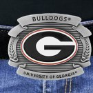 "SWW16884BK - UNIVERSITY OF GEORGIA ""BULLDOGS"" LOGO BELT BUCKLE"