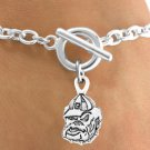 "SWW12780B - LICENSED UNIVERSITY OF GEORGIA ""BULLDOGS"" MASCOT BRACELET"