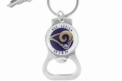 SWW16701KC - ST. LOUIS RAMS KEY CHAIN & BOTTLE OPENER