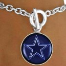 SWW19260B - DALLAS COWBOYS LOGO TOGGLE BRACELET