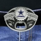 "SWW18593BK - DALLAS COWBOYS ""OFFICIAL TAILGATER"" BELT BUCKLE WITH BOTTLE OPENER"