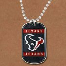 SWW19348N - HOUSTON TEXANS DOG TAG NECKLACE