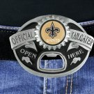 "SWW18936BK - NEW ORLEANS SAINTS ""OFFICIAL  TAILGATER"" BELT BUCKLE WITH BOTTLE  OPENER"