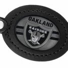 SWW19675KC - OAKLAND RAIDERS  GENUINE BLACK LEATHER FRAMED KEY CHAIN