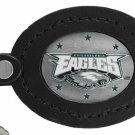 SWW17721KC - PHILADELPHIA EAGLES GENUINE BLACK LEATHER FRAMED KEY CHAIN