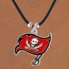 SWW14946N - TAMPA BAY BUCCANEERS BLACK CORD LOGO NECKLACE