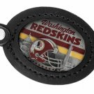 SWW19704KC - WASHINGTON REDSKINS  GENUINE BLACK LEATHER FRAMED KEY CHAIN