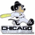 SWW21014P - SILVER TONE CHICAGO WHITE SOX AND MICKEY MOUSE LOGO LAPEL PIN