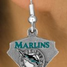 SWW14829E - FLORIDA MARLINS LOGO EARRINGS