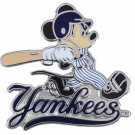 SWW21015P - SILVER TONE NEW YORK YANKEES  AND MICKEY MOUSE LOGO LAPEL PIN