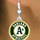 SWW14795E - OAKLAND ATHLETICS LOGO EARRINGS