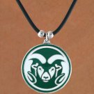 SWW15746N - COLORADO STATE UNIVERSITY RAMS BLACK CORD NECKLACE