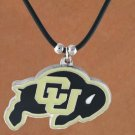 "SWW15150N - UNIVERSITY OF COLORADO ""BUFFALOES"" BLACK CORD NECKLACE"